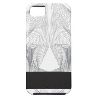 Abstract Bear Skull Tough iPhone 5 Case