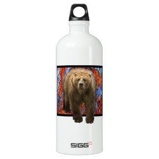 Abstract Bear Water Bottle