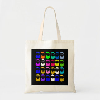 Abstract Beards Budget Tote Budget Tote Bag