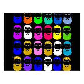 Abstract Beards Postcard