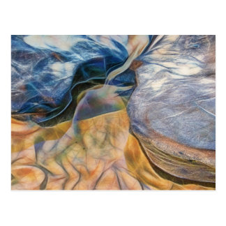 Abstract beautiful rocks on sand greeting card