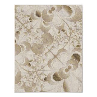 Abstract beige pattern 11 cm x 14 cm invitation card