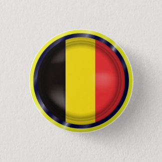 Abstract Belgium Flag, Belgian Colors Button