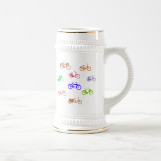 Abstract Bicycles Beer Steins