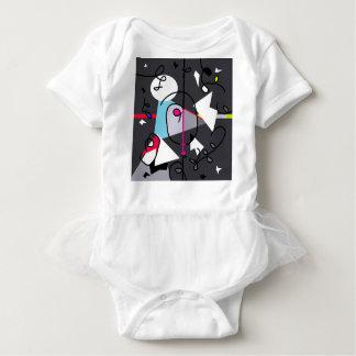 Abstract bird baby bodysuit