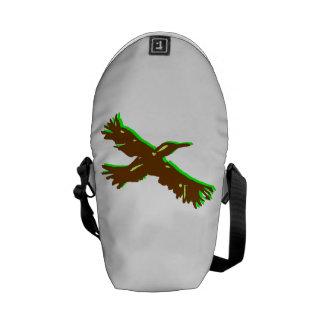 Abstract Bird Messenger Bags