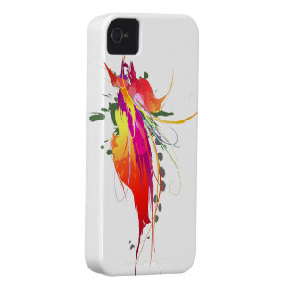 Abstract Bird of Paradise Paint Splatters Case-Mate iPhone 4 Case