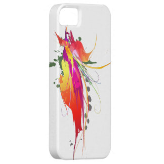 Abstract Bird of Paradise Paint Splatters iPhone 5 Cases