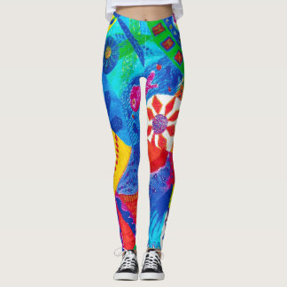 Abstract Birds . Leggings