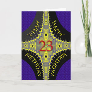 Abstract Birthday Card For A 23 Year Old