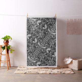 Abstract black and white fabric