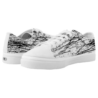 Abstract Black and White Graphic Print Low Tops