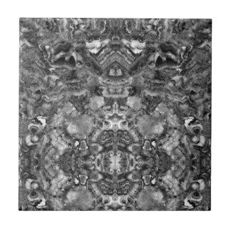 abstract black and white quartz small square tile