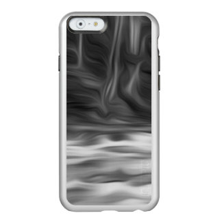 Abstract black and white wavy landscape. incipio feather® shine iPhone 6 case