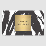 Abstract Black Brushstrokes Personalised Stickers
