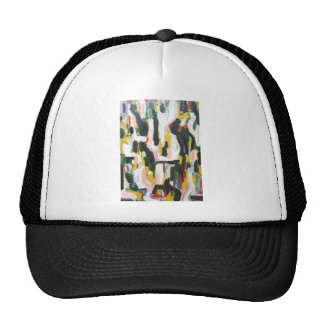 Abstract Black Cats and White Dogs Hats