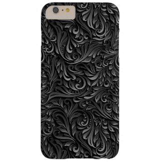 Abstract Black Floral Vine Case