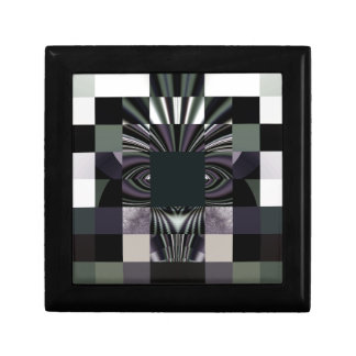 abstract black gift box