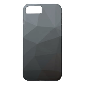 Abstract black polygonal iPhone 7 plus case
