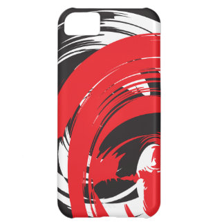 Abstract Black Red White Swirl iPhone 5 Case-Ma