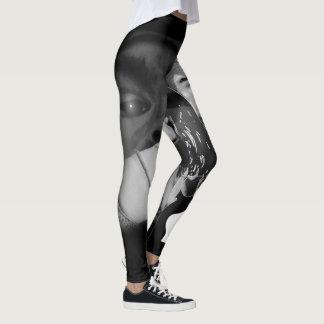 Abstract Black & White Art Leggings