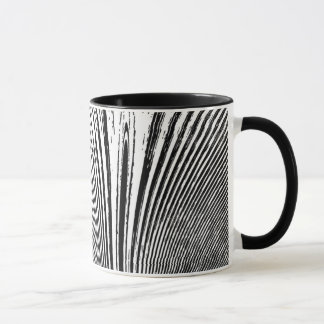 Abstract Black White Coffee Mug