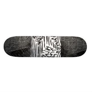 "Abstract Black/White ""Hurricane"" Black/Grey Edges Skate Board Decks"