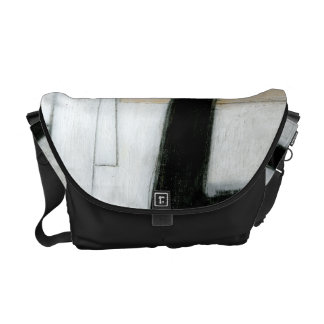Abstract Black & White Painting Messenger Bag
