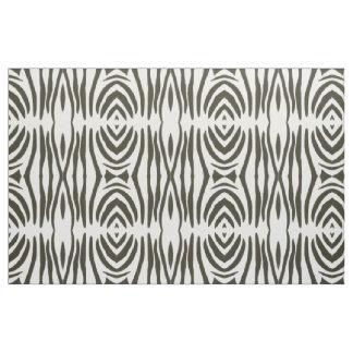 Abstract Black White Zebra Stripes Print Fabric