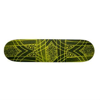 Abstract Black/Yellow Design #1 Custom Skate Board