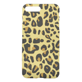 Abstract Black Yellow Hipster Cheetah Animal iPhone 7 Plus Case