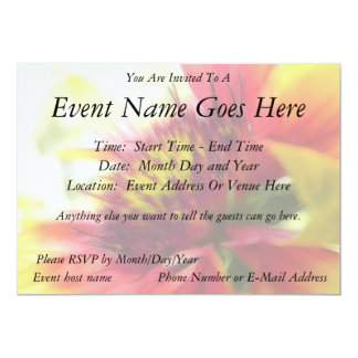 Abstract Blanket Flower Bloom 5x7 Paper Invitation Card