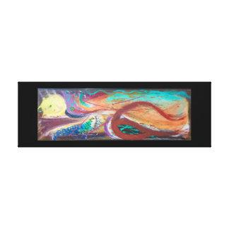 Abstract Bleeding Heart Canvas Print