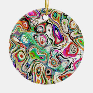 Abstract Blend of Colors Ceramic Ornament