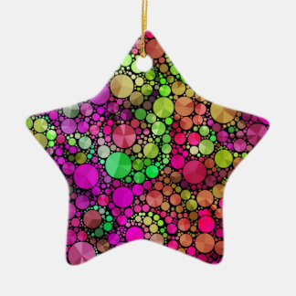 Abstract Bling Ceramic Star Decoration