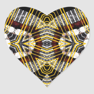 Abstract Bling Lips Heart Sticker