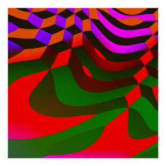 Abstract Blocks Cubist Print