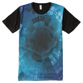 Abstract Blue All-Over Print T-Shirt