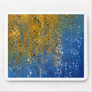 Abstract Blue and Bronze Design Mouse Pad