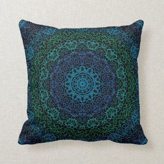 Abstract Blue and Green American MoJo Pillows Throw Cushions
