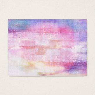 Abstract blue and pink ocean texture business card