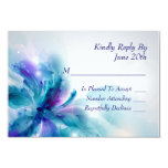 Abstract Blue and Purple Floral Design RSVP Card 9 Cm X 13 Cm Invitation Card