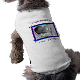 Abstract Blue and Purple Frame Pet Clothing
