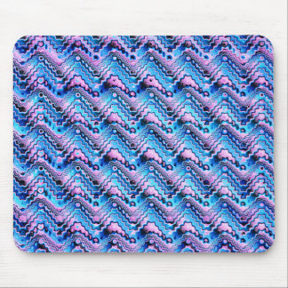 Abstract Blue And Purple Pattern Mouse Pad