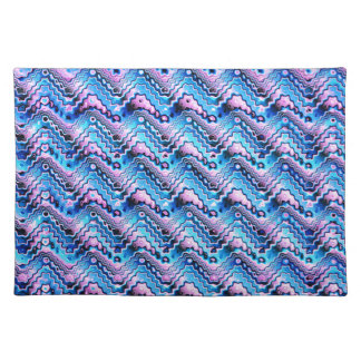 Abstract Blue And Purple Pattern Placemat