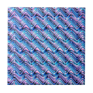 Abstract Blue And Purple Pattern Tile