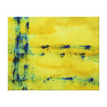 Abstract Blue and Yellow 1 Gallery Wrapped Canvas
