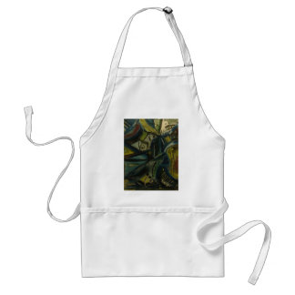 Abstract Blue Adult Apron
