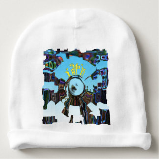 Abstract Blue Baby Beanie