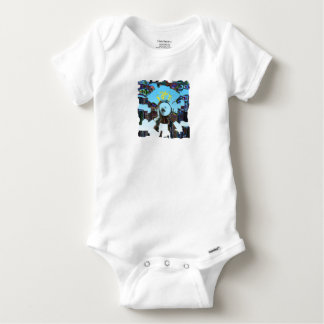 Abstract Blue Baby Onesie